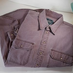 Woolrich large button casual long sleeve
